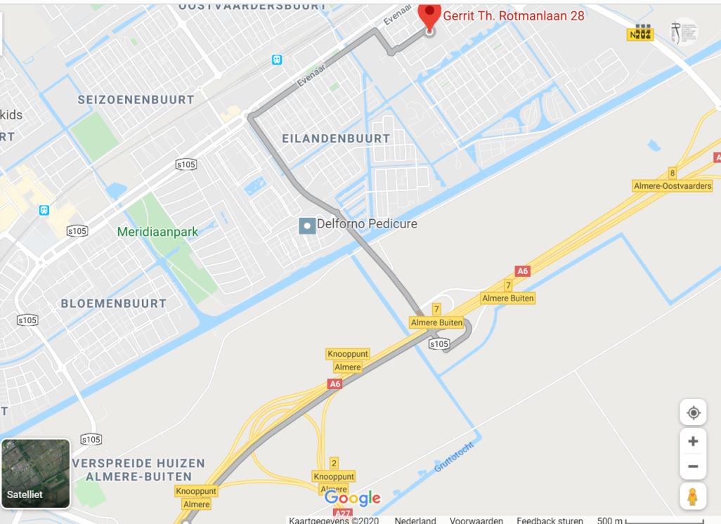 Shekinah Almere route