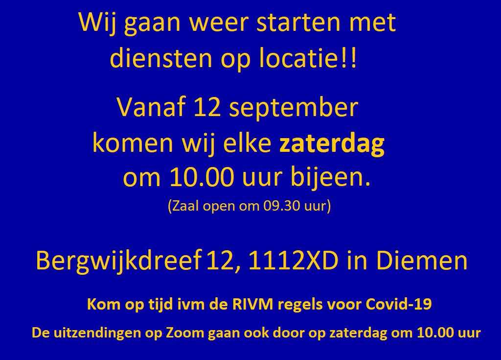 locatie Shekinah Ministries Amsterdam
